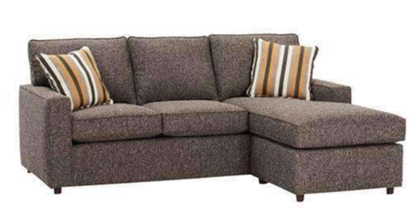 brown linen sectional couch