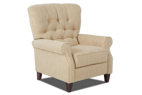 Halifax Tufted Back Fabric Recliner