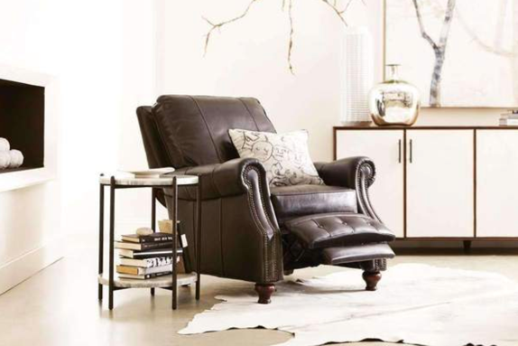 leather chair in house