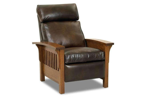 Aldrich Leather Mission Style Recliner