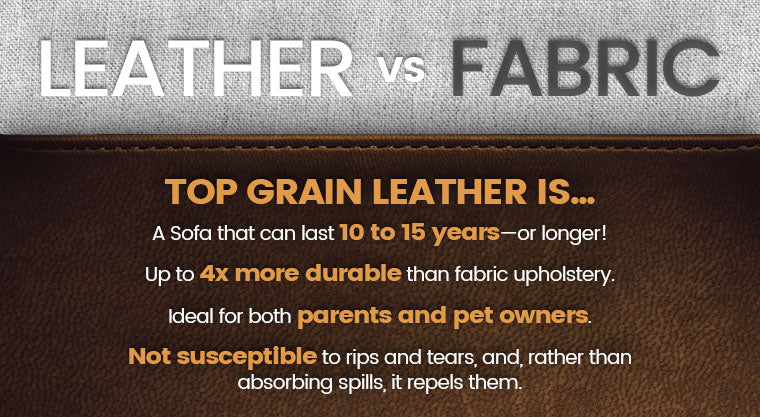 leather vs fabric graphic