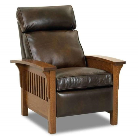 padded leather lounge chair
