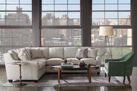 "Addison ""Designer Style"" Small Scale Apartment Size Sectional"