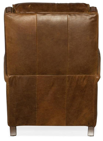 "Alcott ""Quick Ship"" Unique Leather Bustle Back Recliner -OUT OF STOCK UNTIL 10/12/2020"