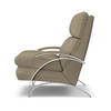 Image of Anton Contemporary Leather With Metal Frame Recliner Chair