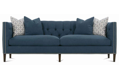 Astrid 92 Inch Fabric Tight-Back Tuxedo Arm Two Cushion Sofa