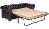 Image of Barrington 84 Inch Leather Tufted Sleeper Sofa