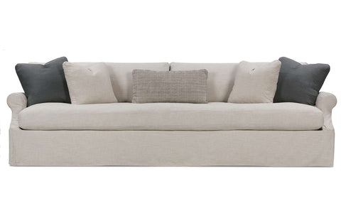 "Calista ""Designer Style"" 85 Or 98 Or 110 Inch Hand-Crafted Oversized Slipcovered Sofa"