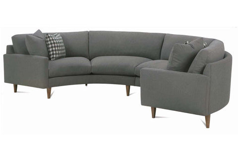 Clarice 2 Piece Curved Fabric Upholstered Sectional Sofa