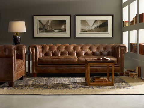 "Damien Malawi Tonga 94 Inch ""Quick Ship"" Tufted Chesterfield Style Sofa"