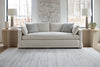 Image of Donna 88 Inch Two Cushion Or Single Bench Seat Fabric Sofa With Track Arms