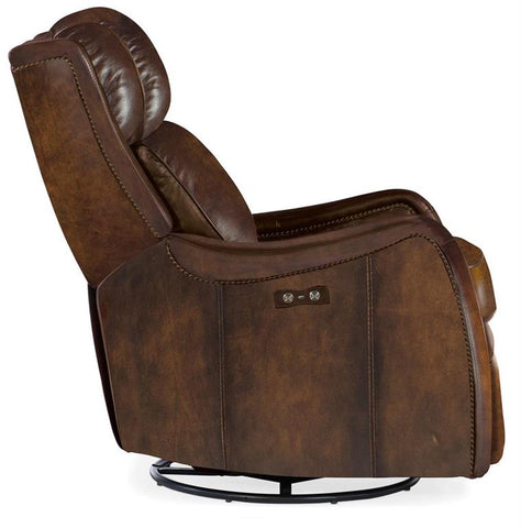 "Fairmont SWIVEL/GLIDER Power ""Quick Ship"" Leather Recliner"