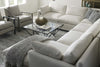 "Image of Faith ""Designer Style"" Track Arm Fabric Sectional"