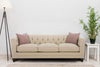 Image of Isadore 92 Inch Large Formal Fabric Upholstered Tufted Back Sofa
