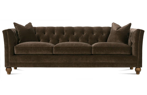 Isadore 92 Inch Large Formal Fabric Upholstered Tufted Back Sofa