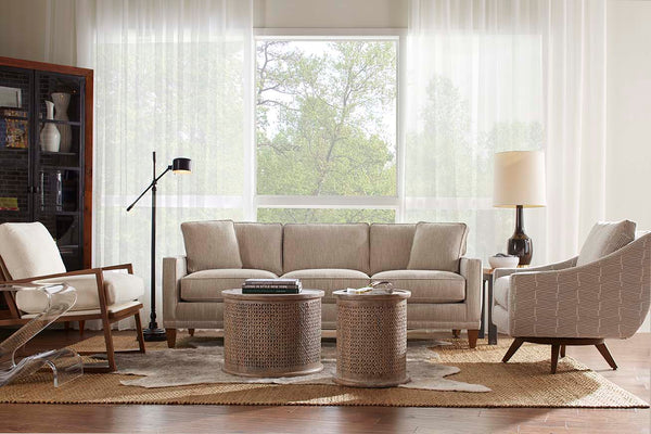 "Janice III ""Designer Style"" Contemporary Fabric Upholstered Collection"