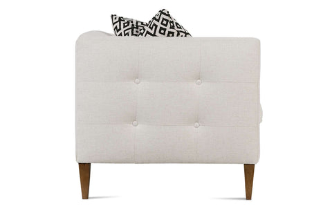Jeanette 86 Inch Modern Button Trimmed Sofa