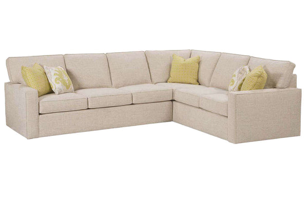 "Jennifer ""Designer Style"" Fabric Upholstered Sectional Sofa"