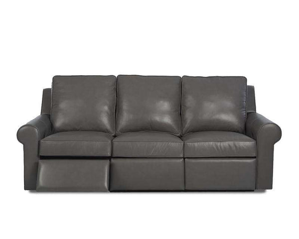 "Jennings 94 Inch Premium ""Wall Hugger"" Power Leather Reclining Sofa"