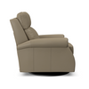 Image of Kirby Swivel Leather Pop Up Back Recliner