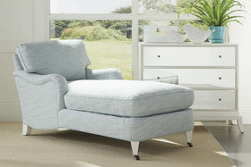 Kristen English Arm Chaise Chair With Pillow Back