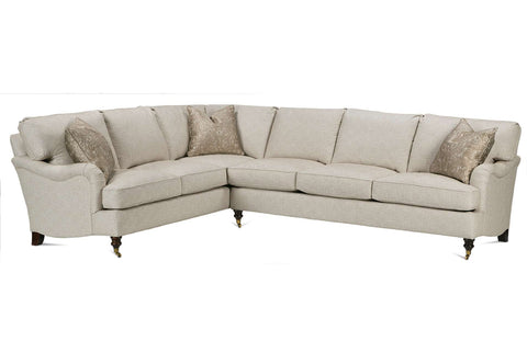 "Kristen ""Designer Style"" English Arm Sectional"