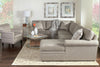"Image of Kyle ""Designer Style"" Fabric Upholstered Sectional Couch"