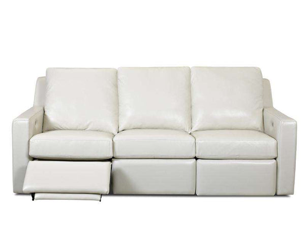 "Larkin 90 Inch Premium ""Wall Hugger"" Grand Scale Power Leather Reclining Sofa"