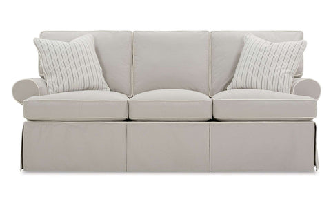 "Laura 84 Inch ""Designer Style"" Slipcovered Sofa"