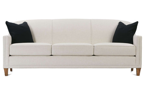 "Leona 84 Inch ""Designer Style"" Tight-Back Fabric Sofa"