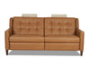Image of Lowry 77 Inch Mid-Century Modern Power Wall Hugger Apartment Sofa