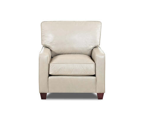 Mills Leather Track Arm Chair