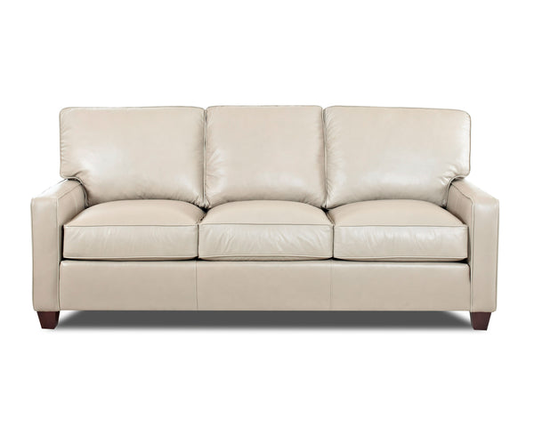 Mills 81 Inch Modern Leather Sofa
