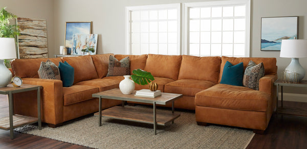 Orson Contemporary Leather Sectional
