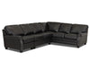 Image of Oswald Leather Sectional With Decorative Nailhead Trim