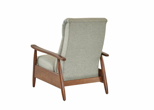Peter Small Mid-Century Modern Fabric Recliner