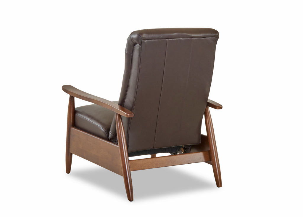 Peter Mid Century Modern Leather Recliner Chair Club Furniture
