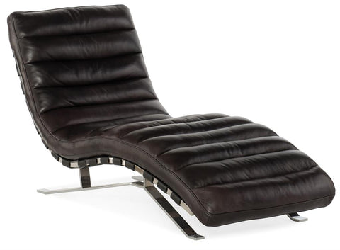 Axel Leather Chaise Lounge Chair