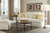 "Image of Sidney 96 Inch ""Designer Style"" Slipcovered Grand Scale Sofa"