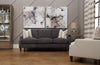 Image of Xavier 80 Inch Apartment Size Three Seat Leather Sofa