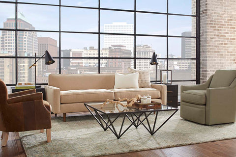 "Zoey 85 Inch ""Designer Style"" Modern Tufted Seat Sofa"