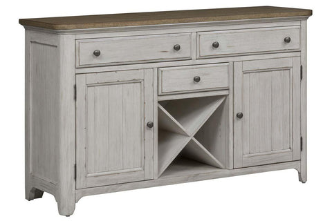 Aberdeen Farmhouse Style Antique White Storage Dining Buffet
