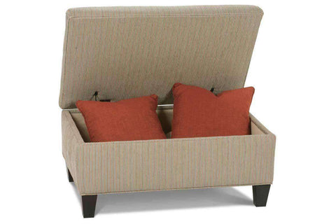 Adonis Hinged Lift Top Fabric Upholstered Storage Bench