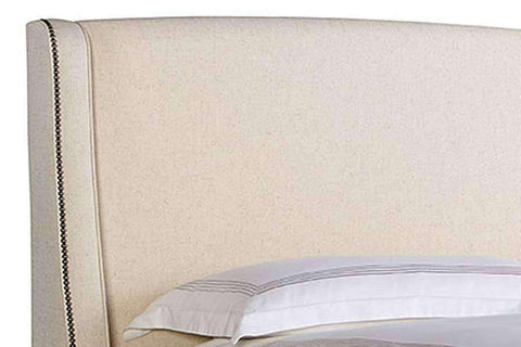 "Upholstered Bed Albright ""Designer Style"" Upholstered Wing Bed"