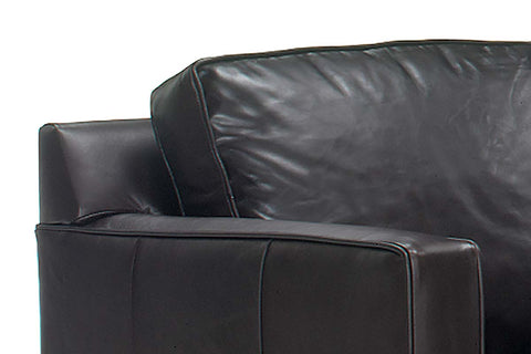 "Alex ""Designer Style"" Track Arm Leather Chair"