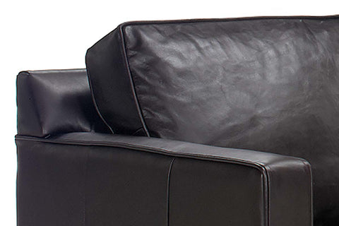"Alex 76 Inch ""Designer Style"" Studio Size Leather Queen Sleeper Sofa"