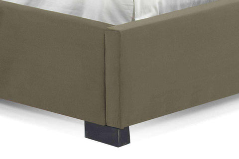 Upholstered Bed Allard Winged Headboard And Upholstered Platform Bed