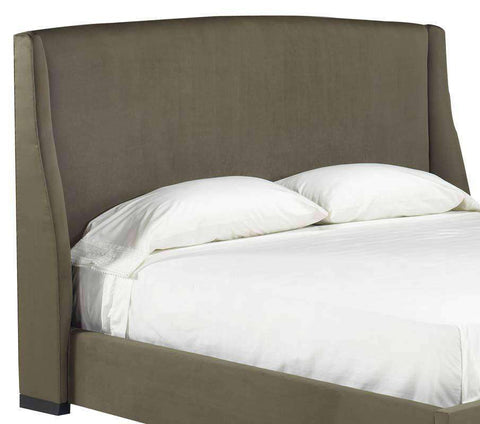 Upholstered Bed Allard Transitional Wing Fabric Upholstered Headboard Only