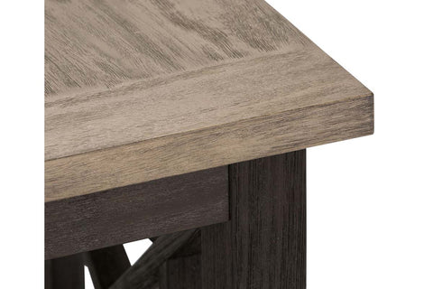 Ardley Transitional Chair Side Table With Charcoal Base And Two Tone Ash Top