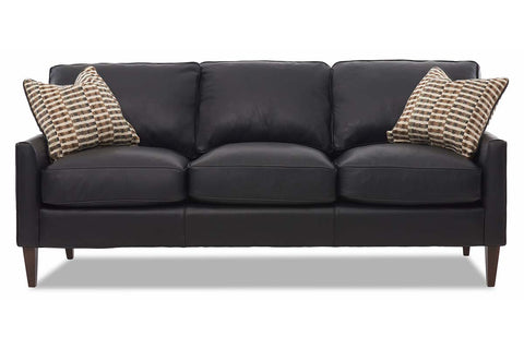 Arlo 80 Inch Apartment Size Three Seat Leather Sofa